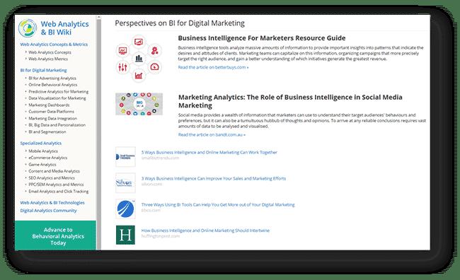 BI for marketing data