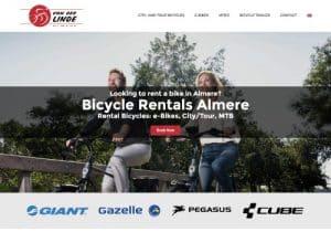 van der linde almere website design