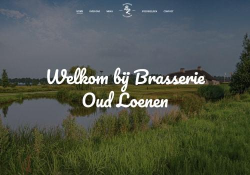 brasserie oud loenen webdesign
