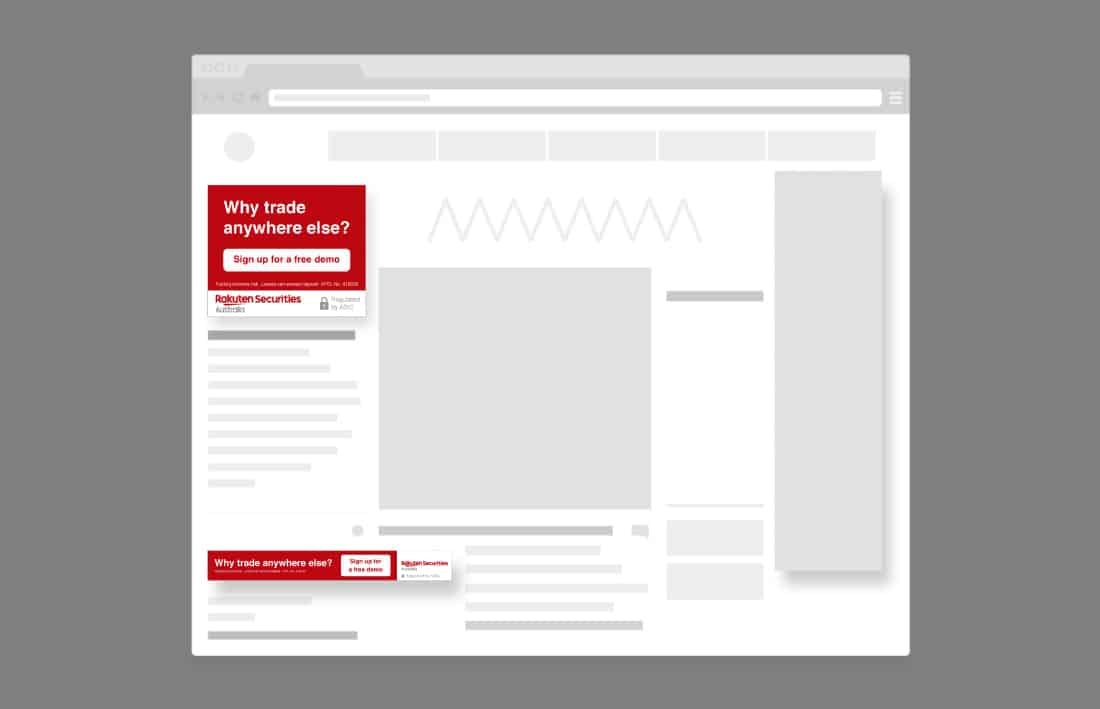 Rakuten securities online banner overzicht