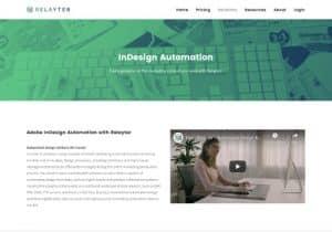 relayter website design