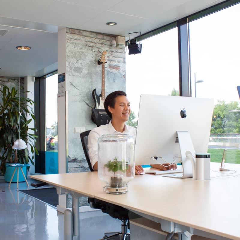 Brainycloud Marketing - Kantoor in Almere. Tim aan het werk.