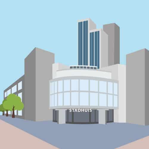 Gemeenteraad almere illustratie stadhuis