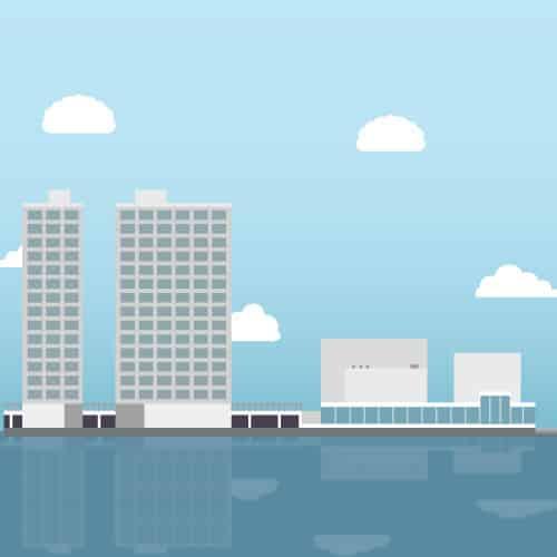 Gemeenteraad almere stad illustratie