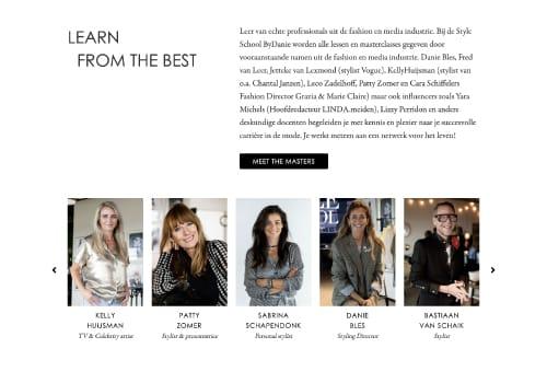 style school by danie website design