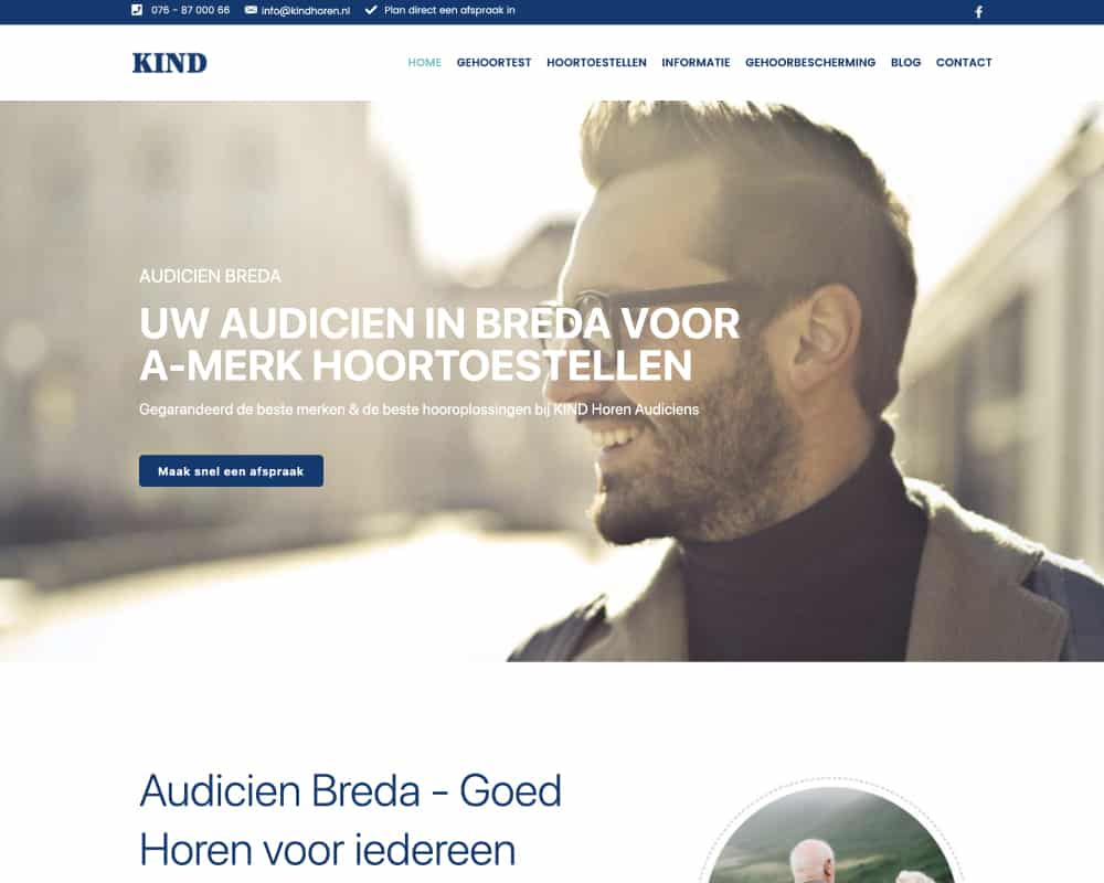 KIND-Audiciens-basic-wordpress-website