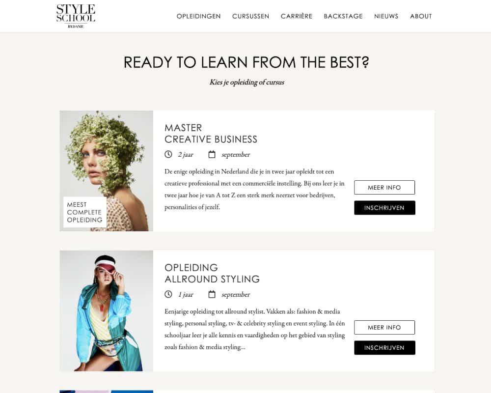 Style-School-bydanie-premium-website-ontwerp