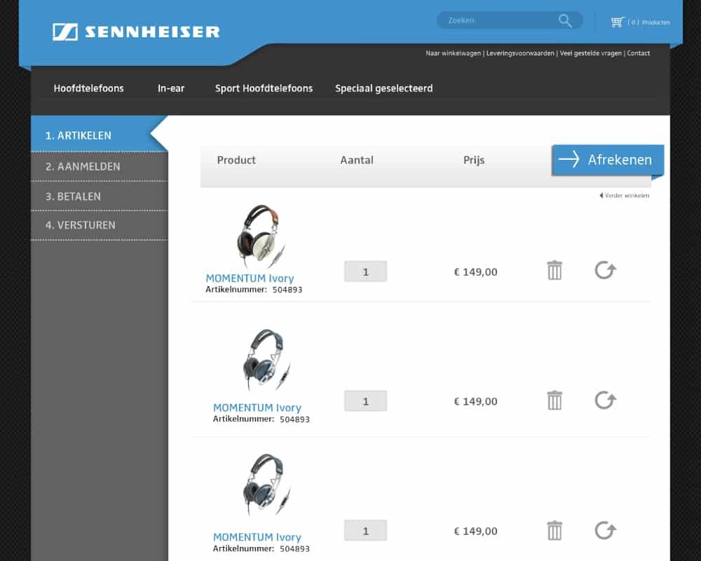sennheiser-postnl-webshop-ontwerp