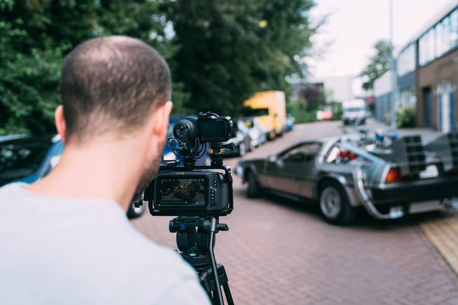 Videoproductie voor Relayter Direct Mail campagne. Delorean Back to the Future.