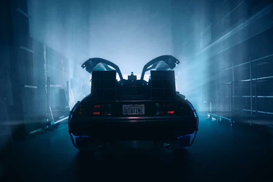 Fotoshoot voor Relayter Direct Mail campagne. Delorean Back to the Future.