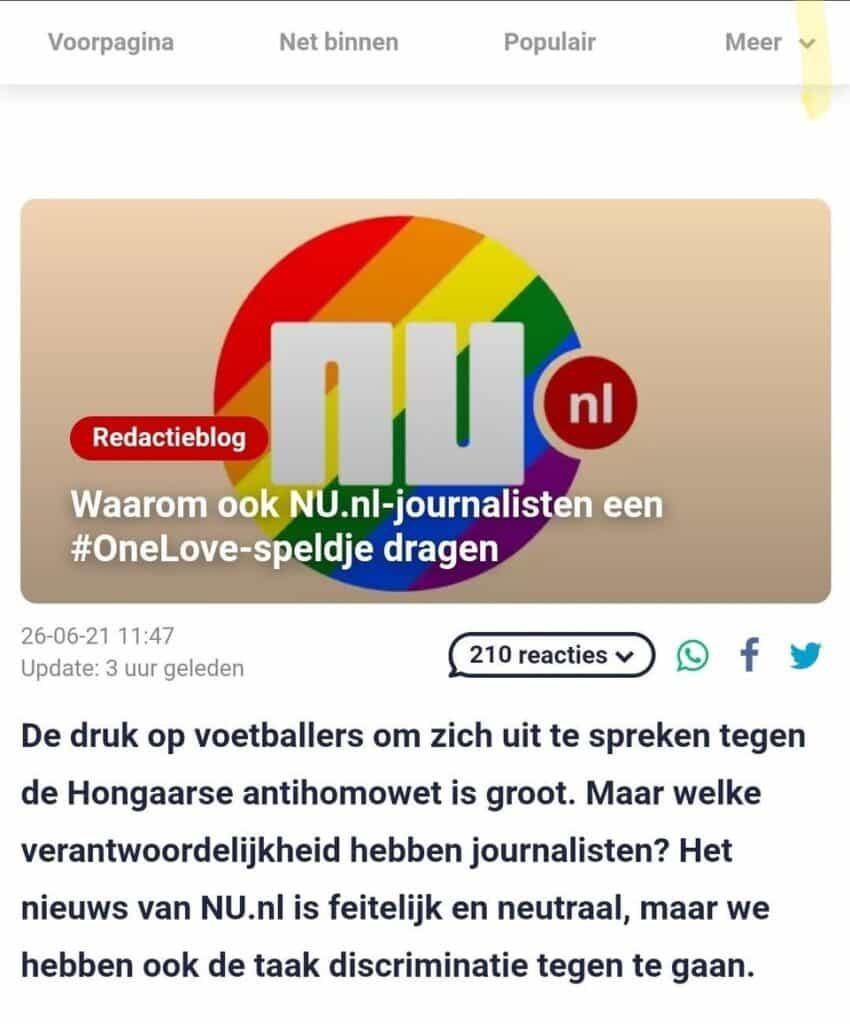 Pride-nu.nl gekleurd nieuws